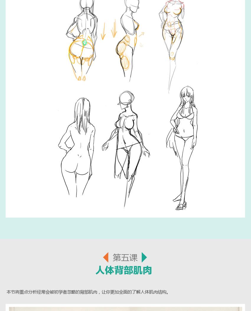 四人卡通身体素材